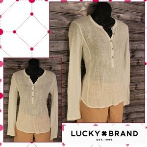 3/30<>Linen/Cotton Long Sleeve by Lucky Brand